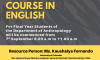 Activity Based Short Course in English for Anthropology Students