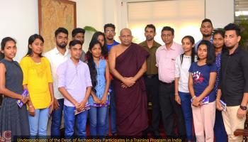 Undergraduates of the Dept. of Archaeology Participates in a Training Program in India (1)
