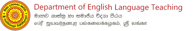 Department of English Language Teaching, Faculty of Humanities and Social Sciences