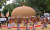 Sacred Relics Enshrinement Ceremony in the Conserved Rajagala Stupa