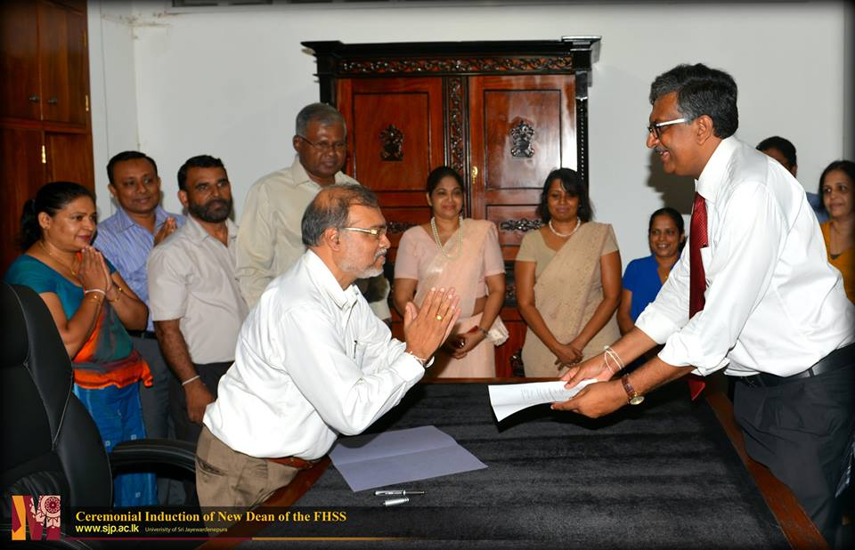 Dr. D.P.S. Chandrakumara appointed as the new Dean of the FHSS