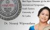 "Dr. Neranji Wijewardana won an award for ""Best Paper Presenter"""