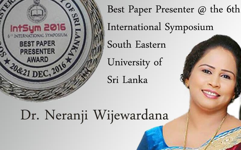 Dr. Neranji Wijewardana