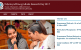 Vidyodaya Undergraduate Research Day – August 2017