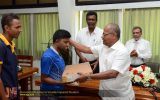 Donation of Laptop to Visually Impaired Student