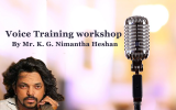Voice Training workshop, By Mr. Nimantha Heshan