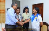 Undergraduates of the Department of Archaeology meet Vice Chancellor