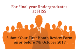 Submission of First Month Review from of the Internship Programme