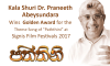 Kala Shuri Dr. Praneeth Abeysundara wins Golden Award for best lyrics
