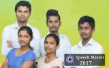 Speech Master (2017) Competition Schedule