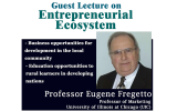 Guest Lecture on Entrepreneurial Ecosystem organized by FHSS