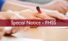 Special Notice to all Undergraduates of FHSS