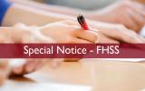 Notice for FHSS Undergraduates (මානවශාස්ත්ර හා සමාජීය විද්යා පිඨ සිසුන් සඳහා විශේෂ නිවේදනය)