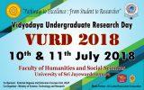 Vidyodaya Undergraduate Research Day 2018