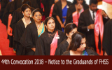 44th Convocation 2018 – Notice to the Graduands of FHSS