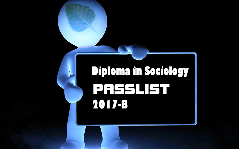 Diploma in Sociology Pass List 2017-B   Faculty of Humanities and
