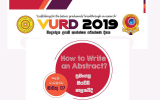 VURD 2019-Workshop on How to Write an Abstract