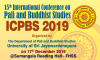 15th International Conference on Pali and Buddhist Studies 2019