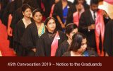 45th Convocation 2019 – Notice to the Graduands of the Faculty of Humanities and Social Sciences