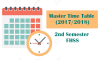 Master Time Table (2017/2018) – Second Semester (1st, 2nd, 3rd, 4th Years)