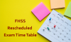 Rescheduled Exam Time Table – 1st Semester Examination (2019 August/September)