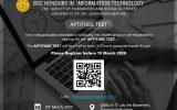 Aptitude Test – BSC in Information Technology Postponed