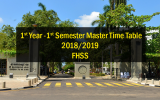 1st Year -1st Semester Master Time Table- 2018/2019