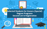 Selected Students for Honours (Special) Degree Programs – Second List
