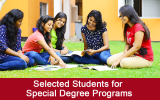 Selected Students for Honors (Special) Degree Programs