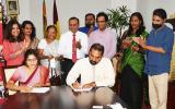 Dept. of Sinhala & Mass Communication Signs MOU with HELVETAS Intercooperation gGmbH