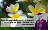 Deepest Sympathy in Regards to the Demise of Former Dean of FHSS, Prof. Stanly Silva