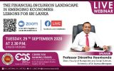 Live Webinar on The Financial Inclusion Landscape in Emerging Economics: Lessons