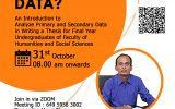 """Online Workshop on """"How to Analyse Data?"""""""
